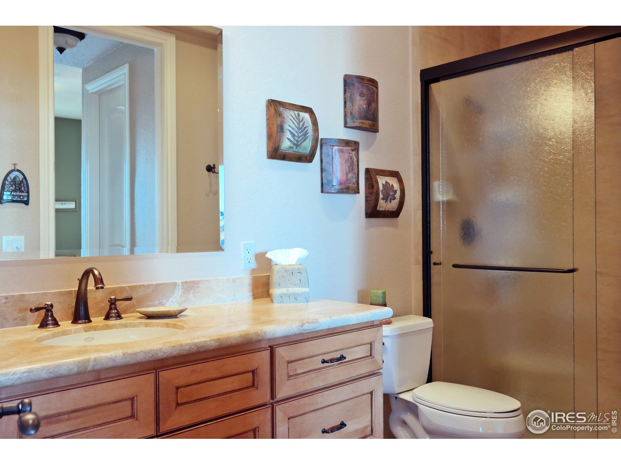 3/4 Bath Accessed from Bedroom & Family Room