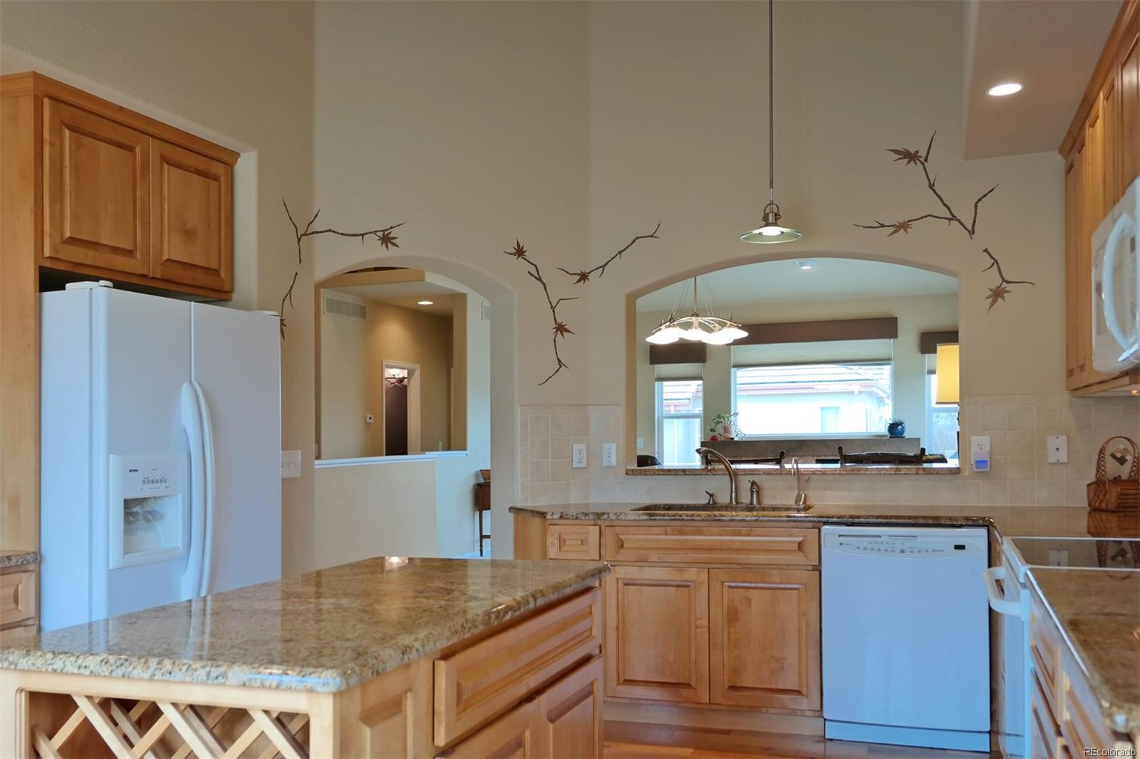 Center Island w/Wine Rack Perfect for Entertaining