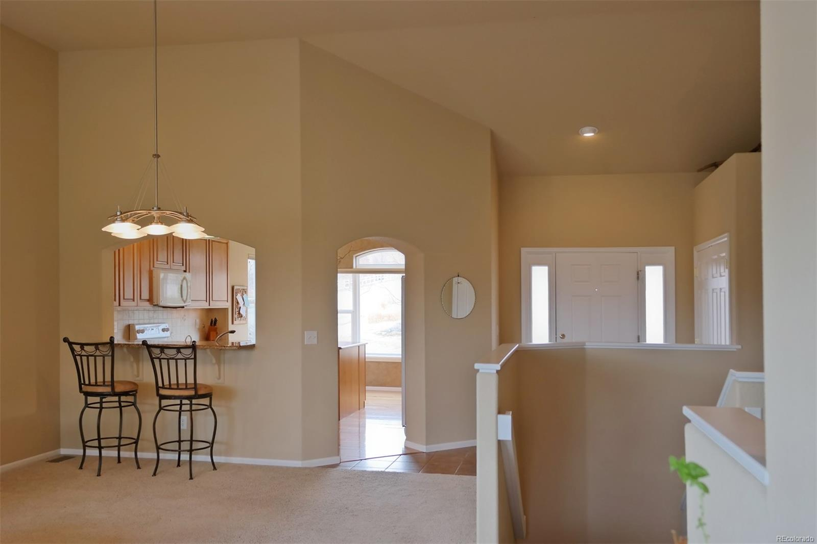 Formal Dining Space w/Counter into Kitchen