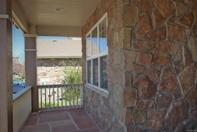 Pleasant Front Porch w/Stone Finishes