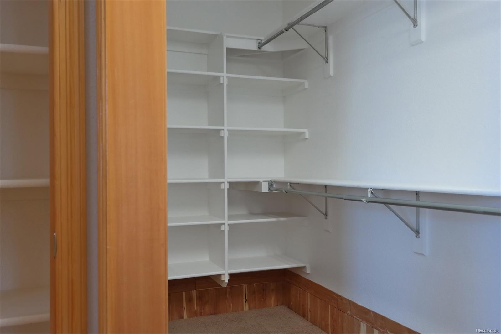 Nice Built-In Shelves & Rod Space in Master Closet