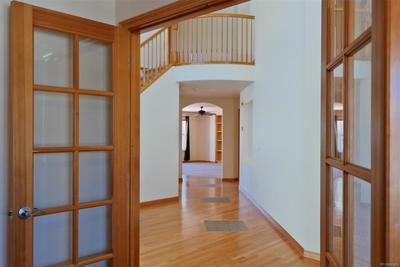 Double French Doors to Study Located at Entry