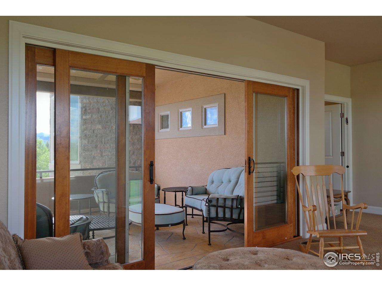 Custom Sliding Doors to Upper Covered Patio