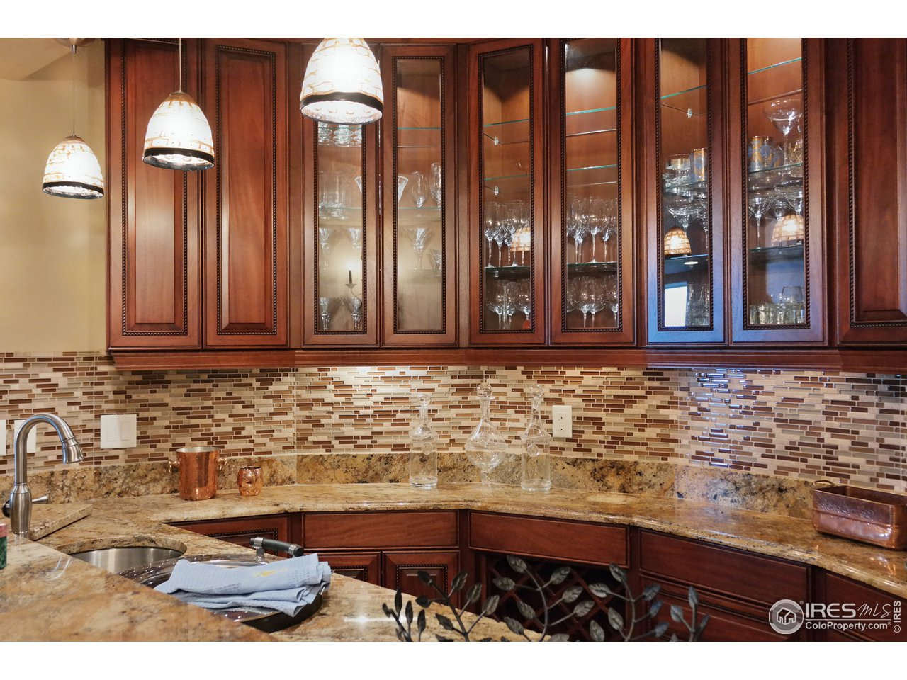 Custom Built Wet Bar w/Display Cabinets