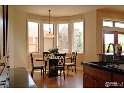 Kitchen Nook in Bay Window Perfect for Quick Meals