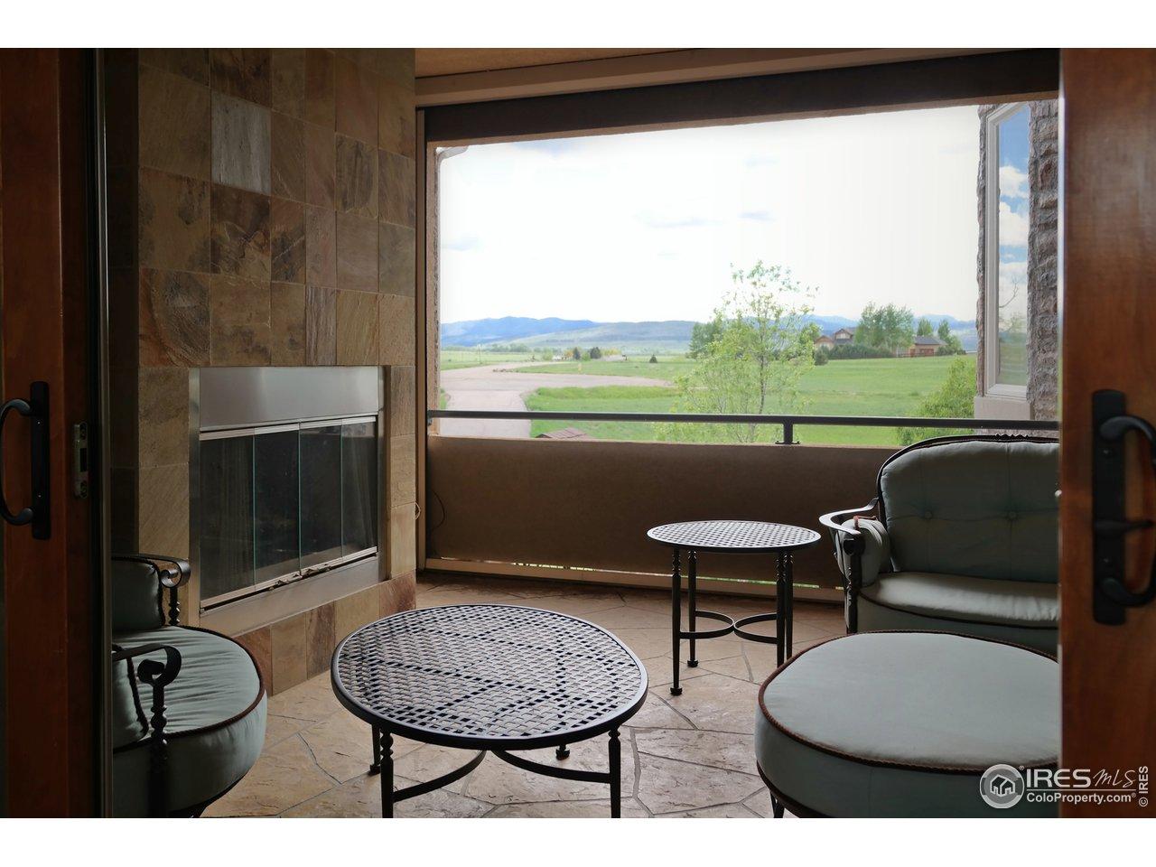 Quiet Outdoor Space w/Gas Fireplace & Stone Floor