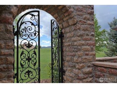 Unique Iron Gates at Front Entry