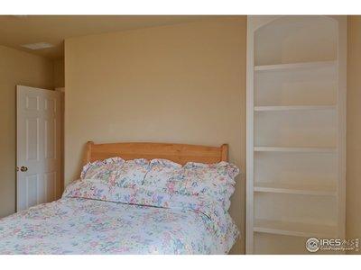 Bedroom #3 has Built-in Shelves