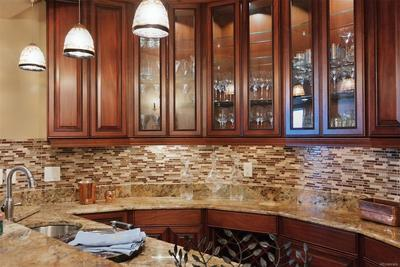 Custom Built Wet Bar w/Display Cabinets
