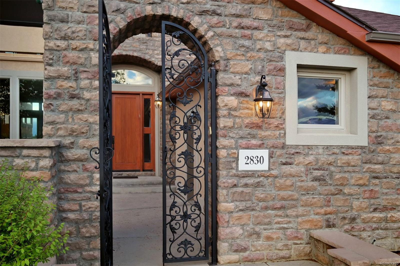 Stunning Gated Entry & Custom Front Door