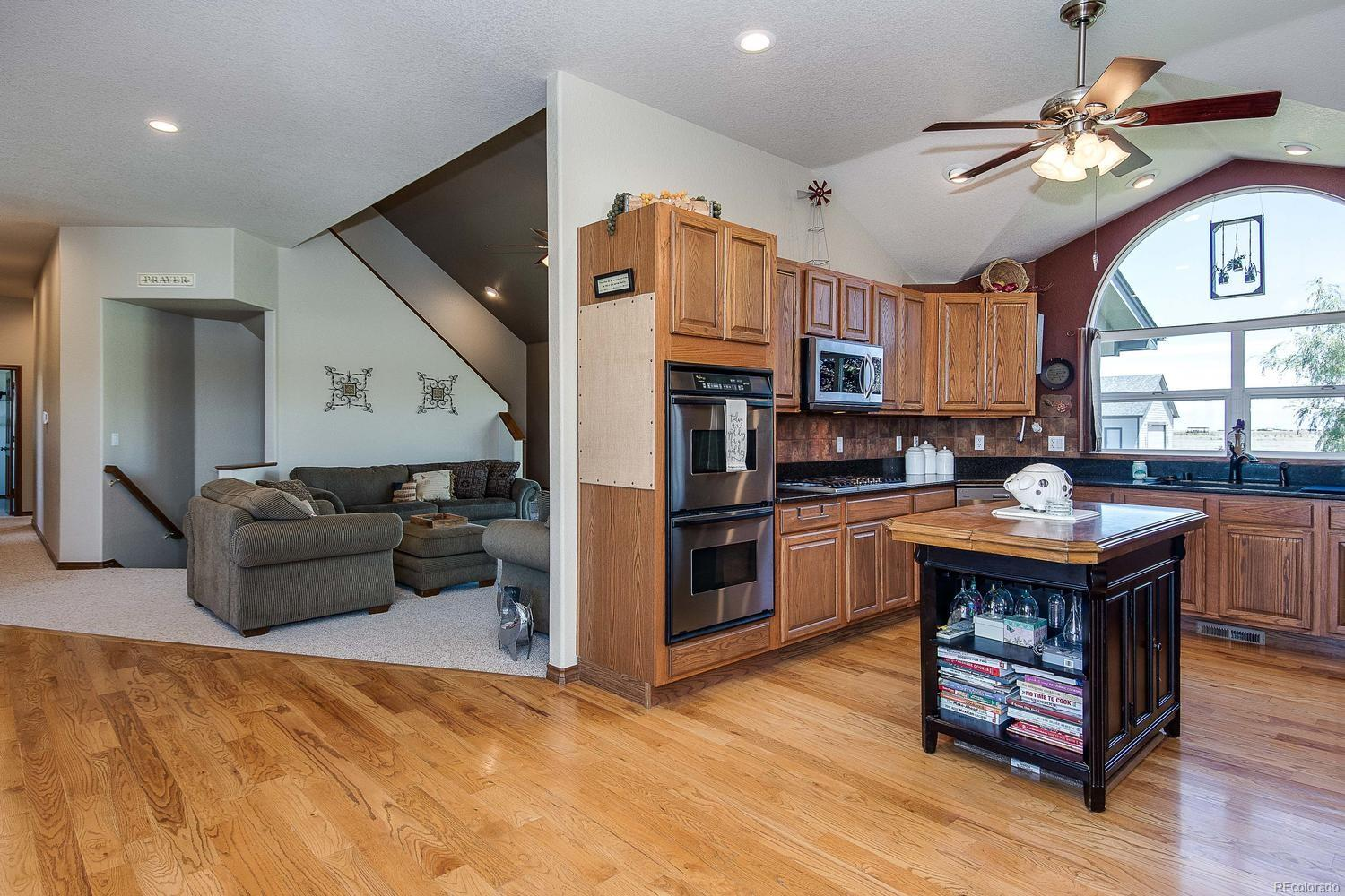 Built-in stove top, dual ovens and microwave