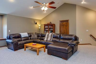 Vaulted ceilings with recessed lighting, built-in surround sound, recessed readi
