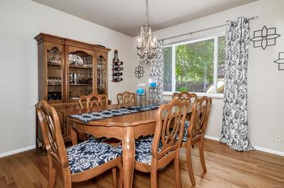Dining room can accommodate large table and extra furniture