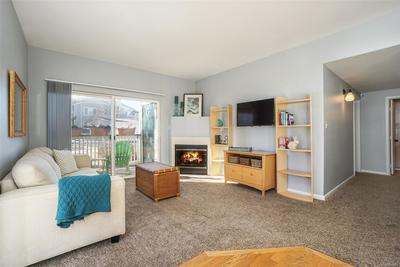 Cozy up to movies & game nights in your living room with gas fireplace