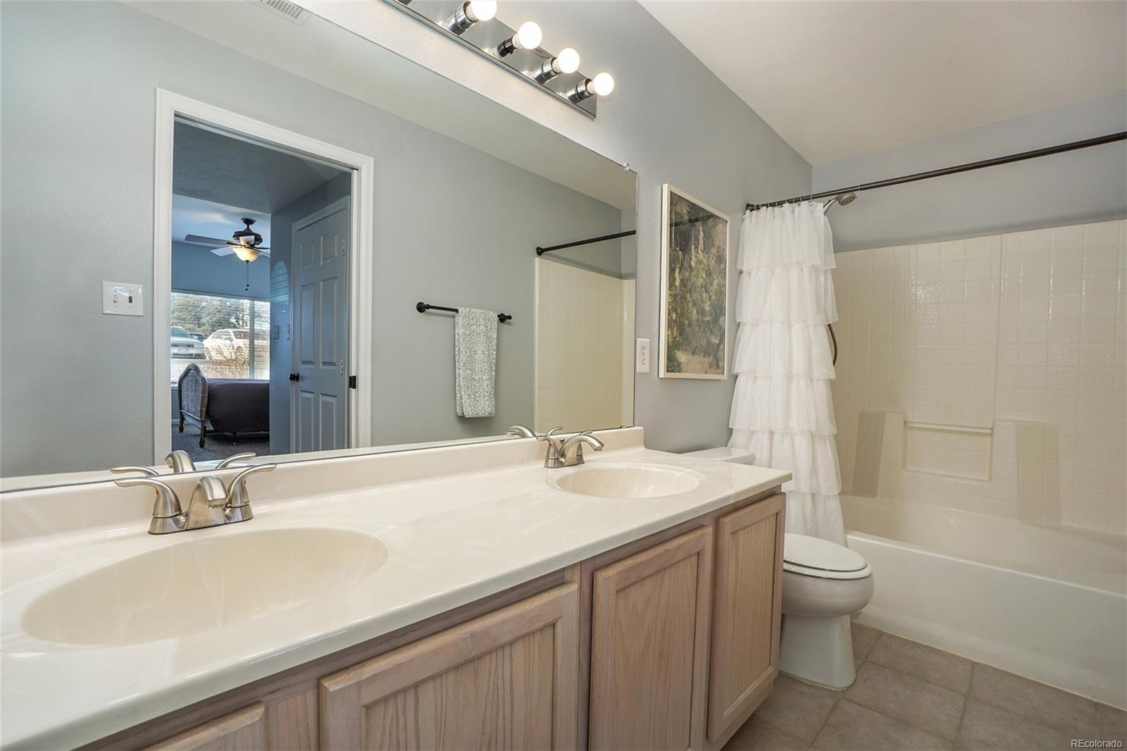 Master bathroom with double vanity and tons of space!