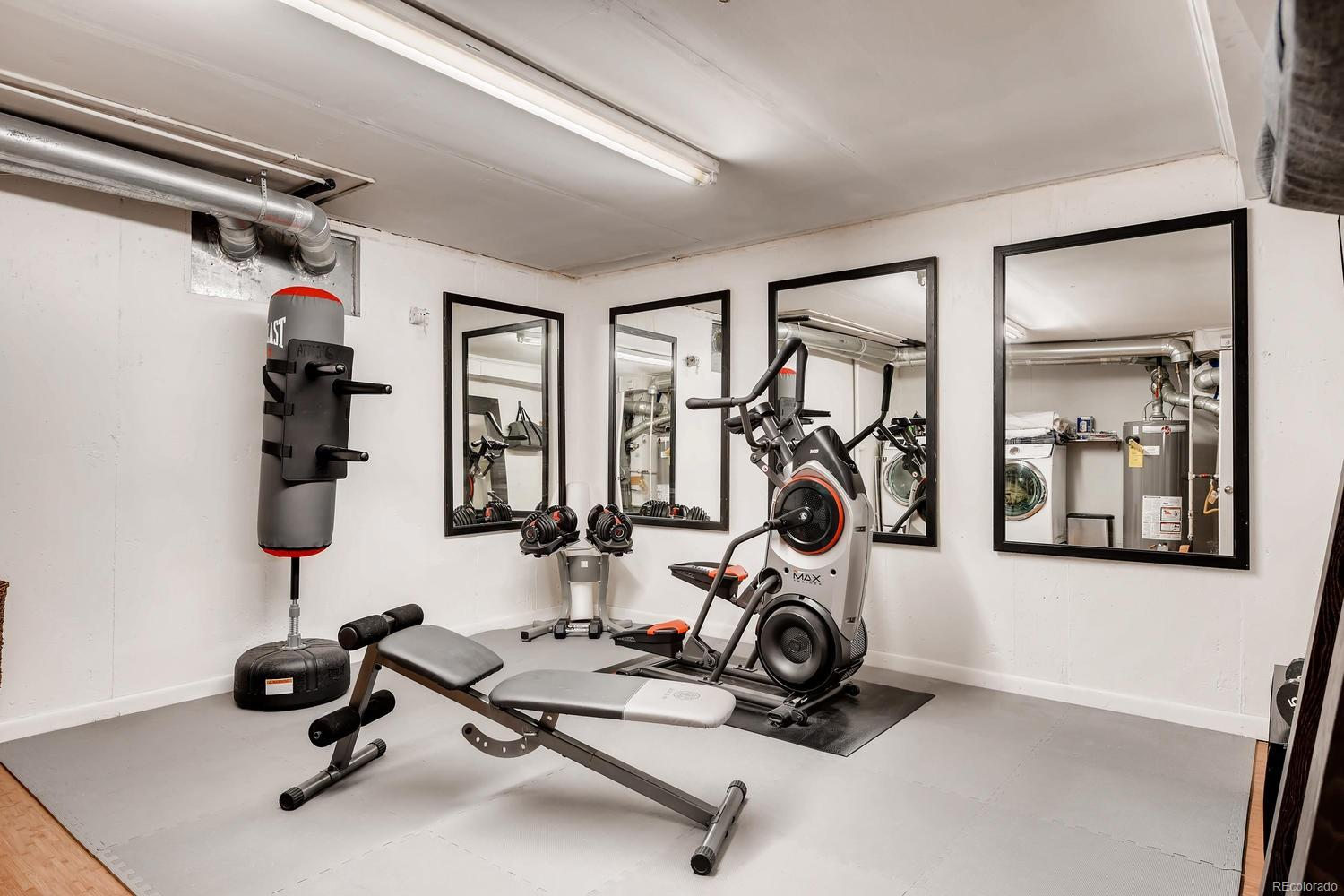 Flex space in laundry room - previously used as a fully-functioning gym!