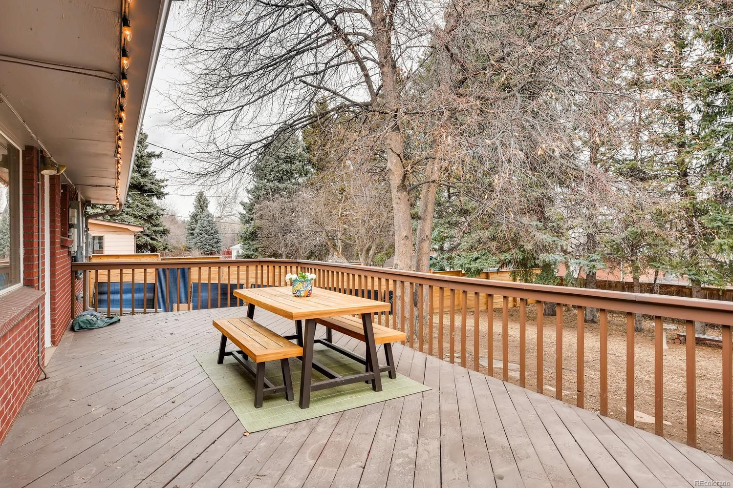 Large backyard patio - perfect for entertaining, summer BBQ's & more.