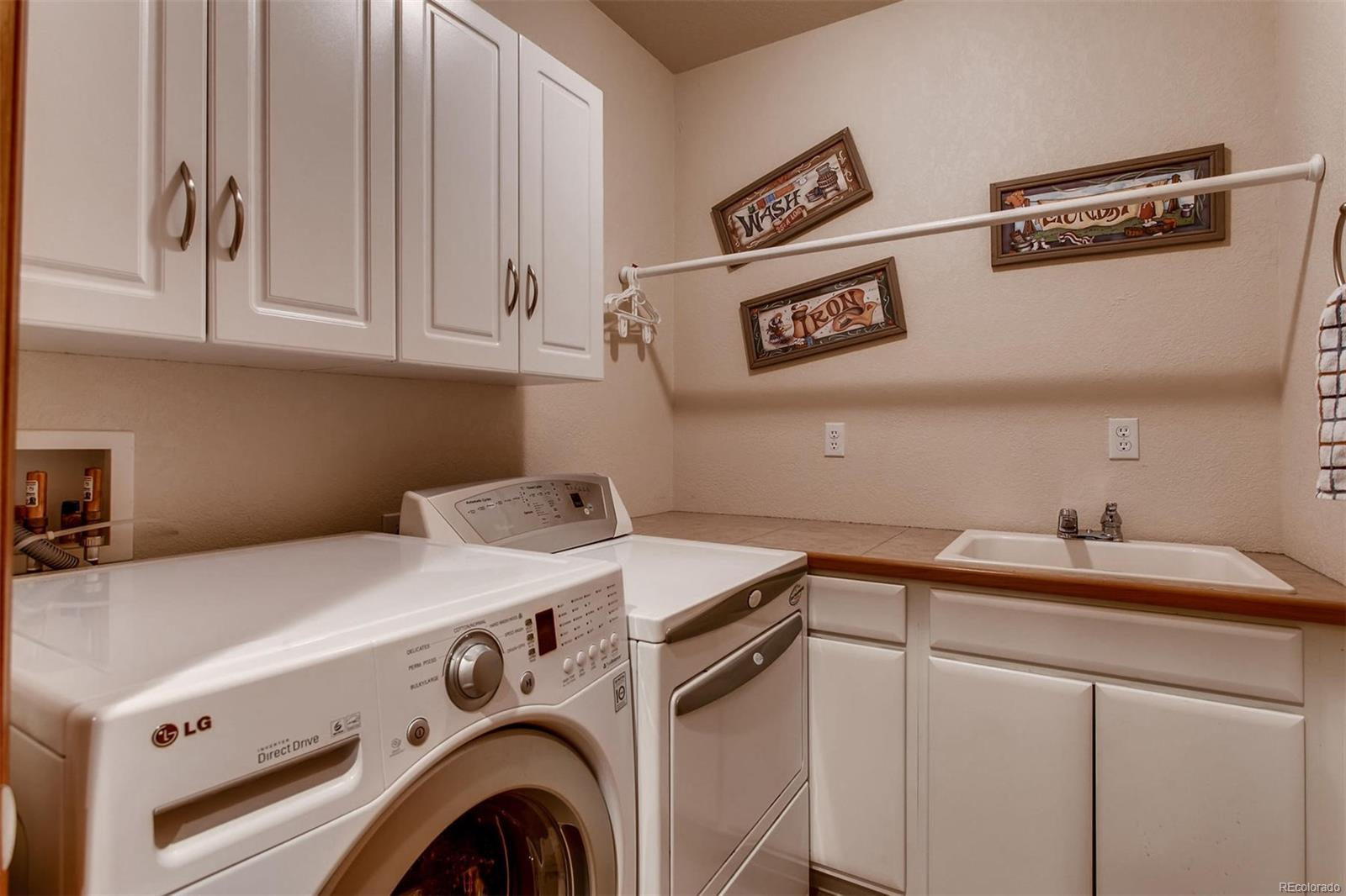 The basement laundry room is so convenient so the basement residents do not have