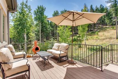 Enjoy a good book or a glass of wine off the family room out here on one of the