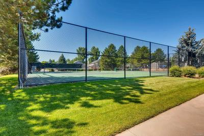 All weather sport courts at the community pool,