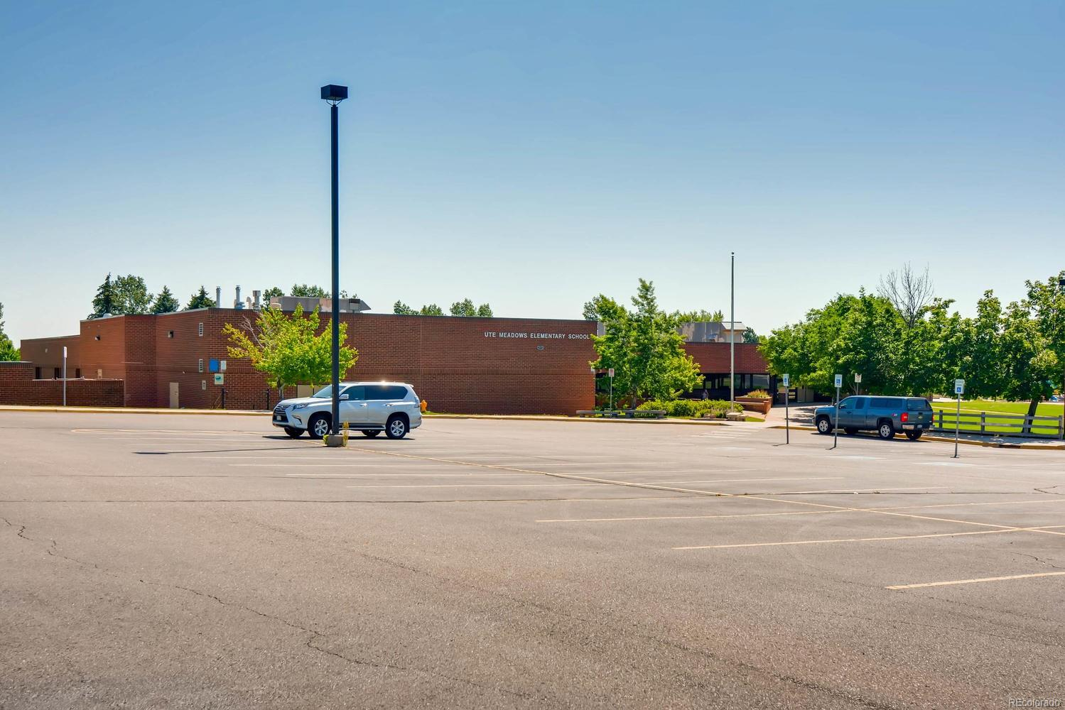Ute Meadows Elementary School is only 2 blocks from this home.
