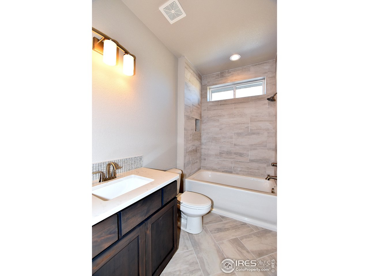 Hall Bath with Custom Tile