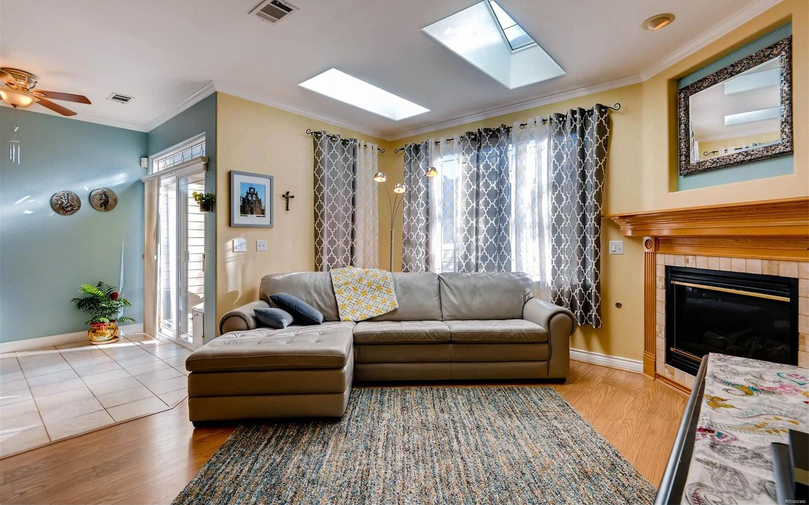 Relax in your spacious family room.