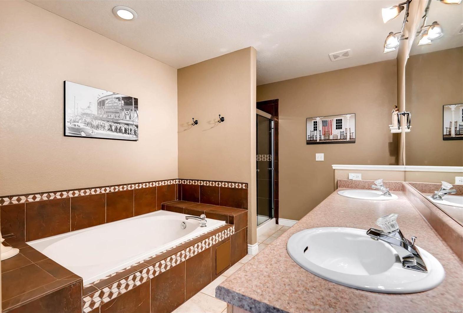 Beautiful and spacious 5 piece master bath.