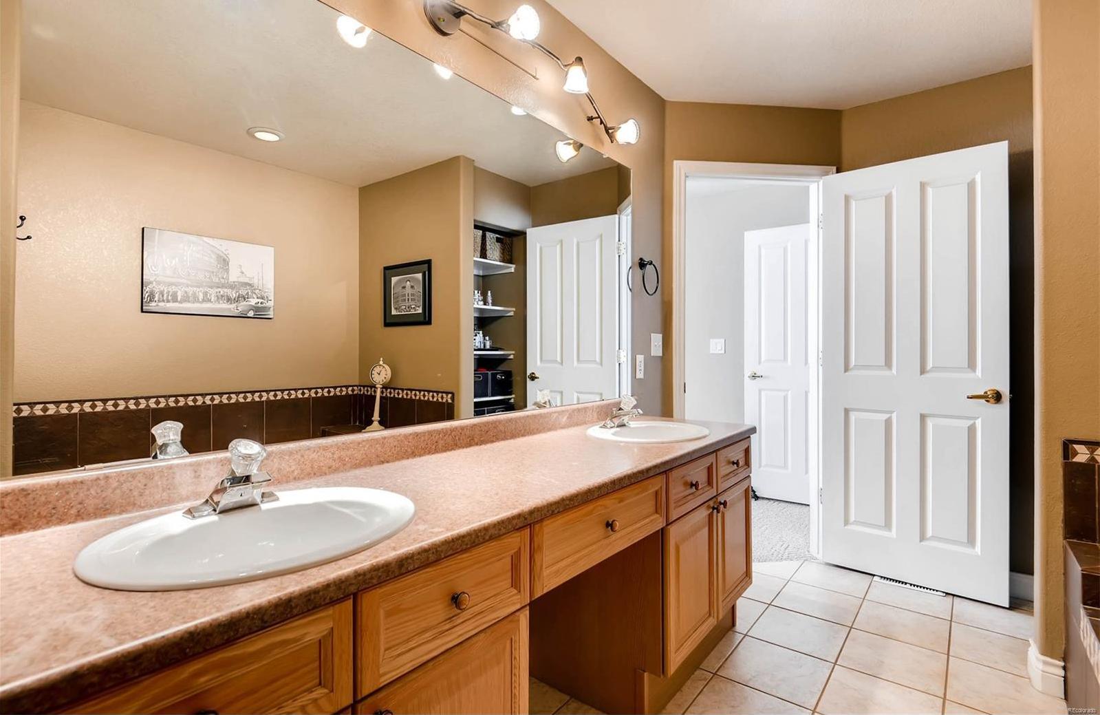 Master bath vanity space.