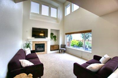 Vaulted, fireplace, views