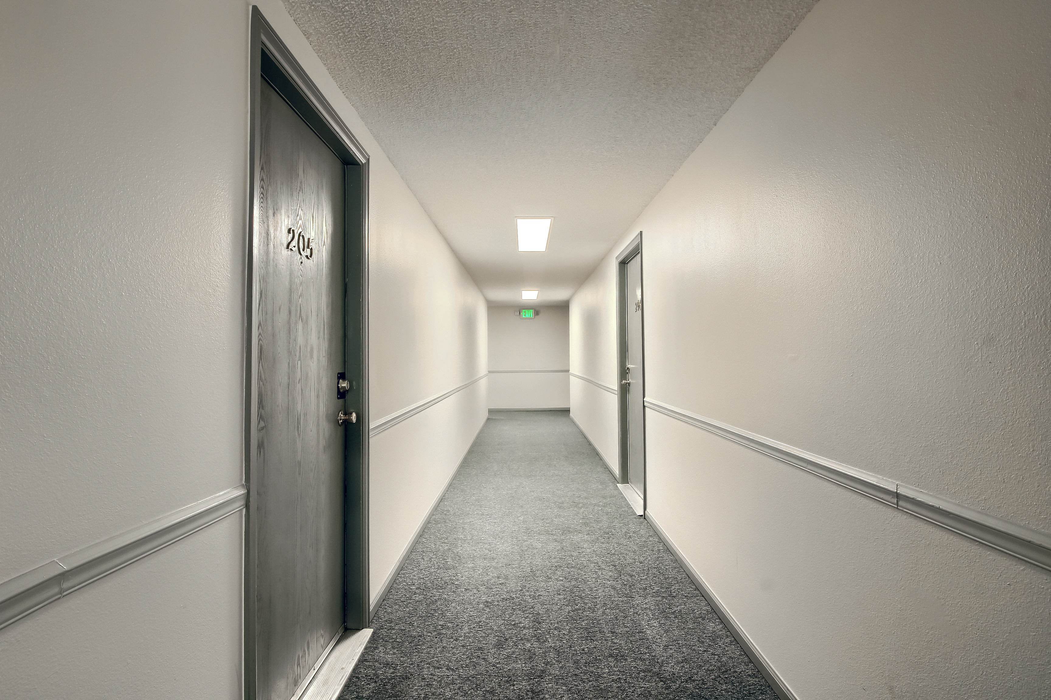 Secure Interior Hallways with Controlled Access