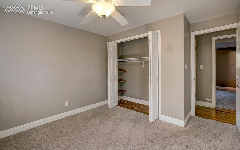 Ceiling Fan, Closet Shelves