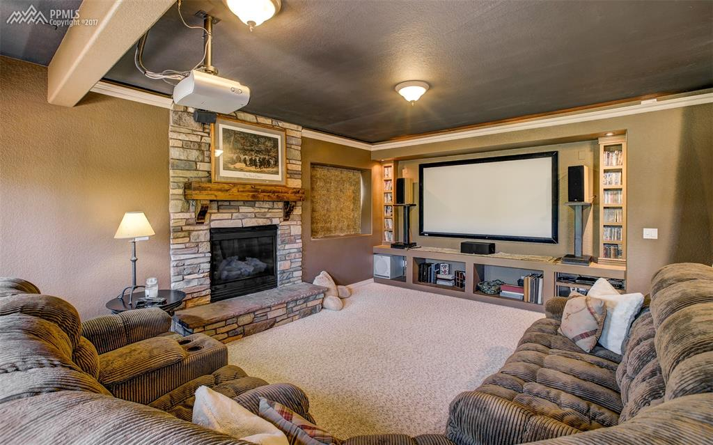 Spacious Lower Level Media Room Is Sure To Please!