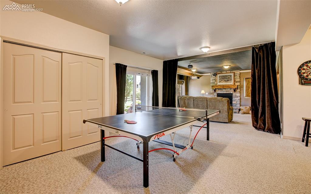 Sweeping Rec Room Area Perfect For Game Table!