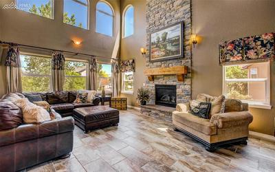 Breathtaking Gas Fireplace W/ Stone Surround