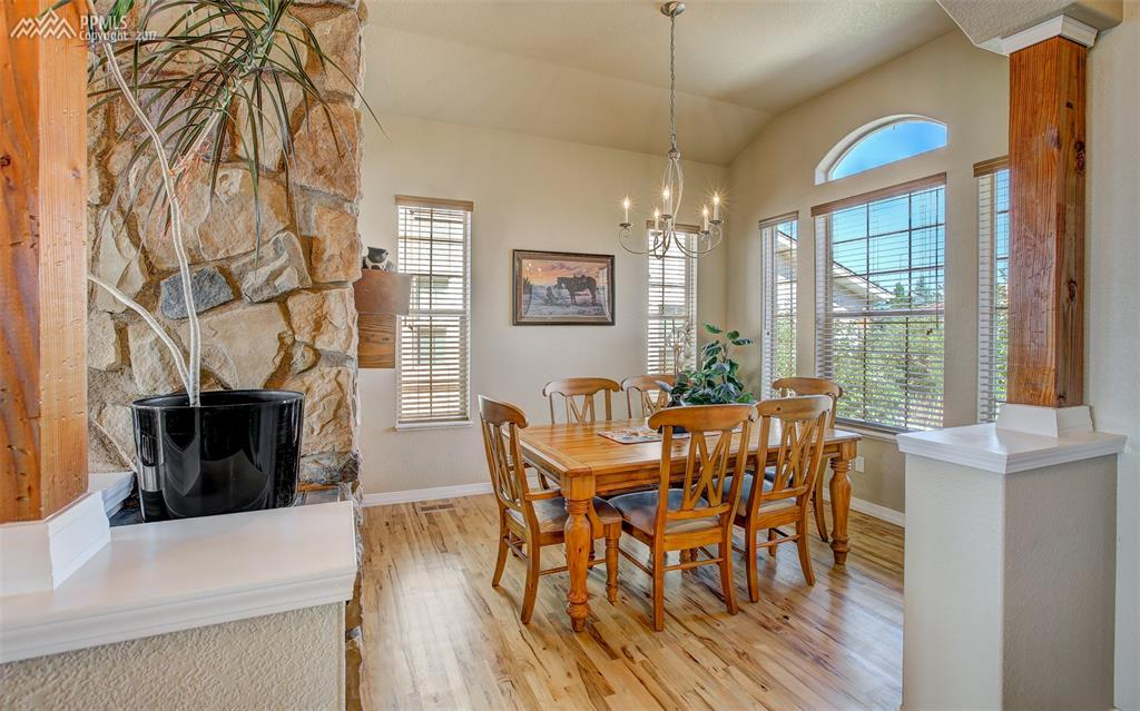 Large Formal Dining Room W/ Pass Through Fireplace