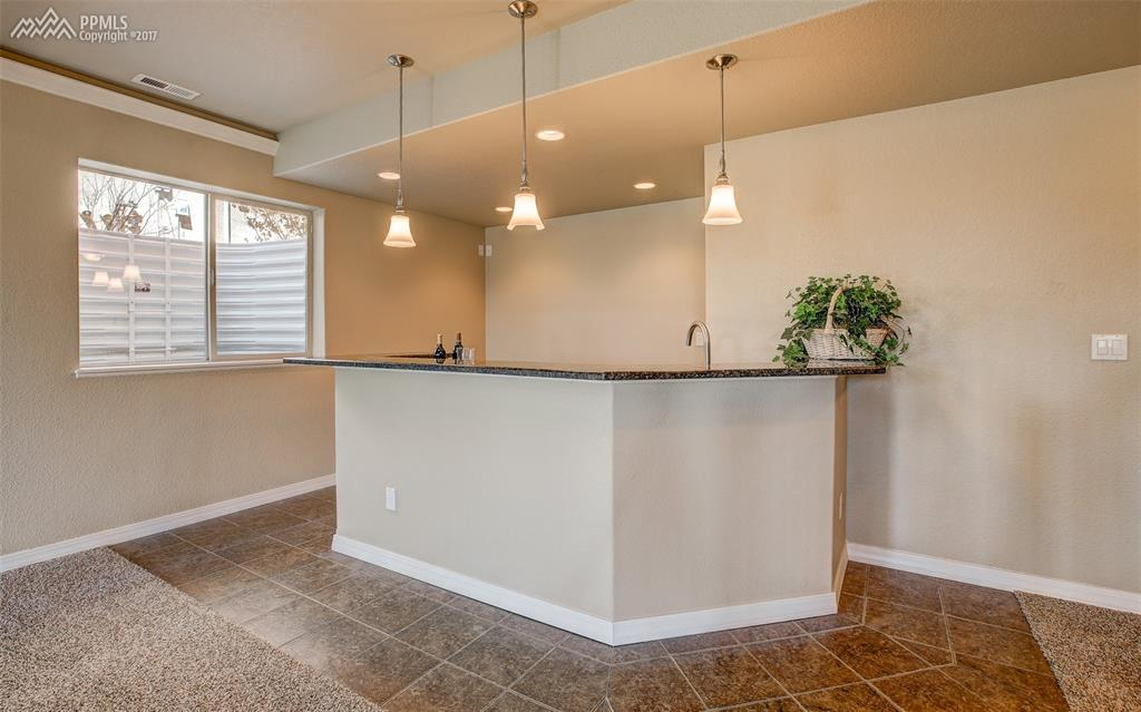 Wet Bar With Granite Counters