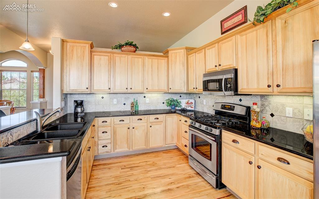Hickory Cabinets Provide Ample Storage