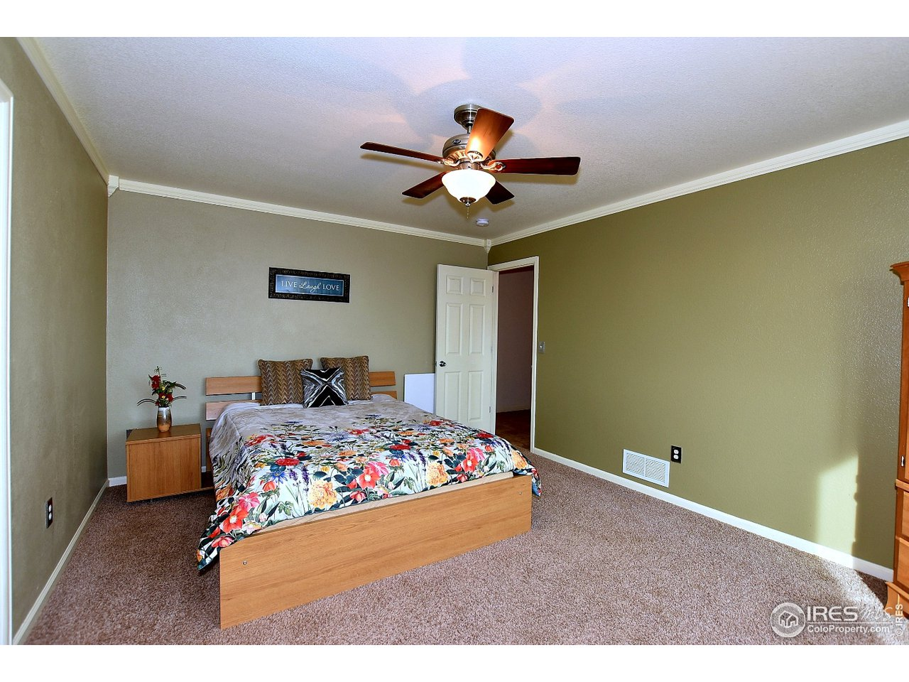 Tucked away, your master suite!