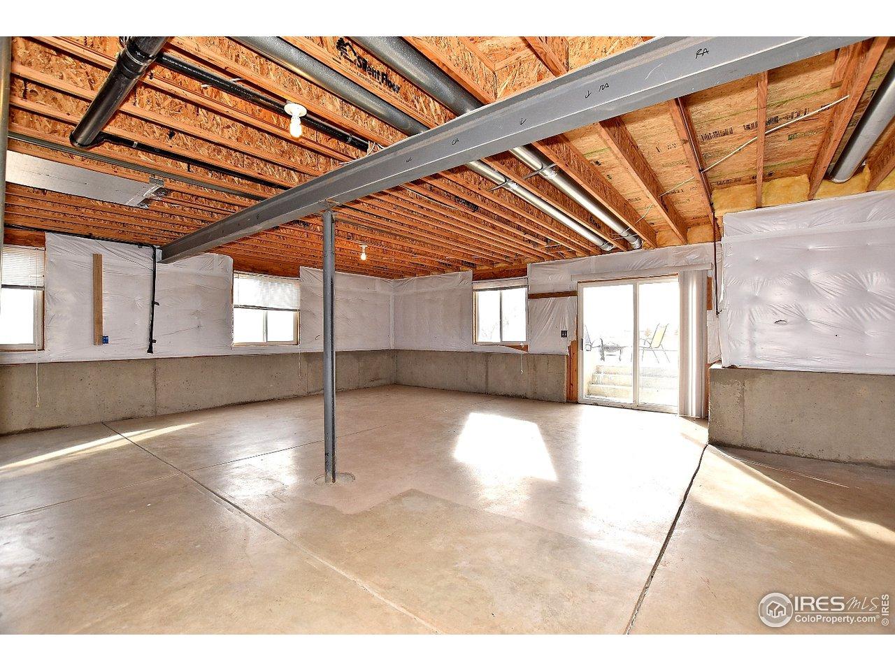 Huge walkout basement