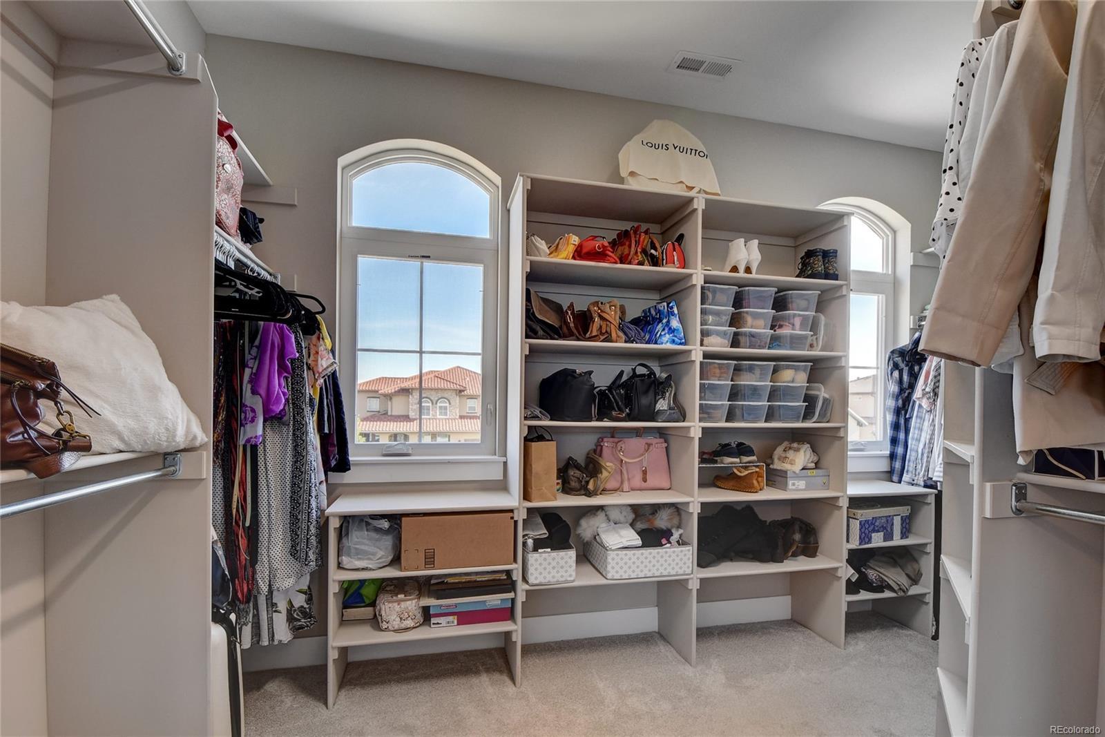 Master suite's walk-in closet.