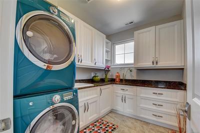 Second floor laundry room.