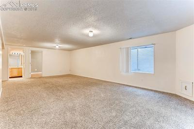 Large basement family room with full bath...