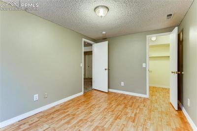 2nd basement bedroom with walk-in closet.