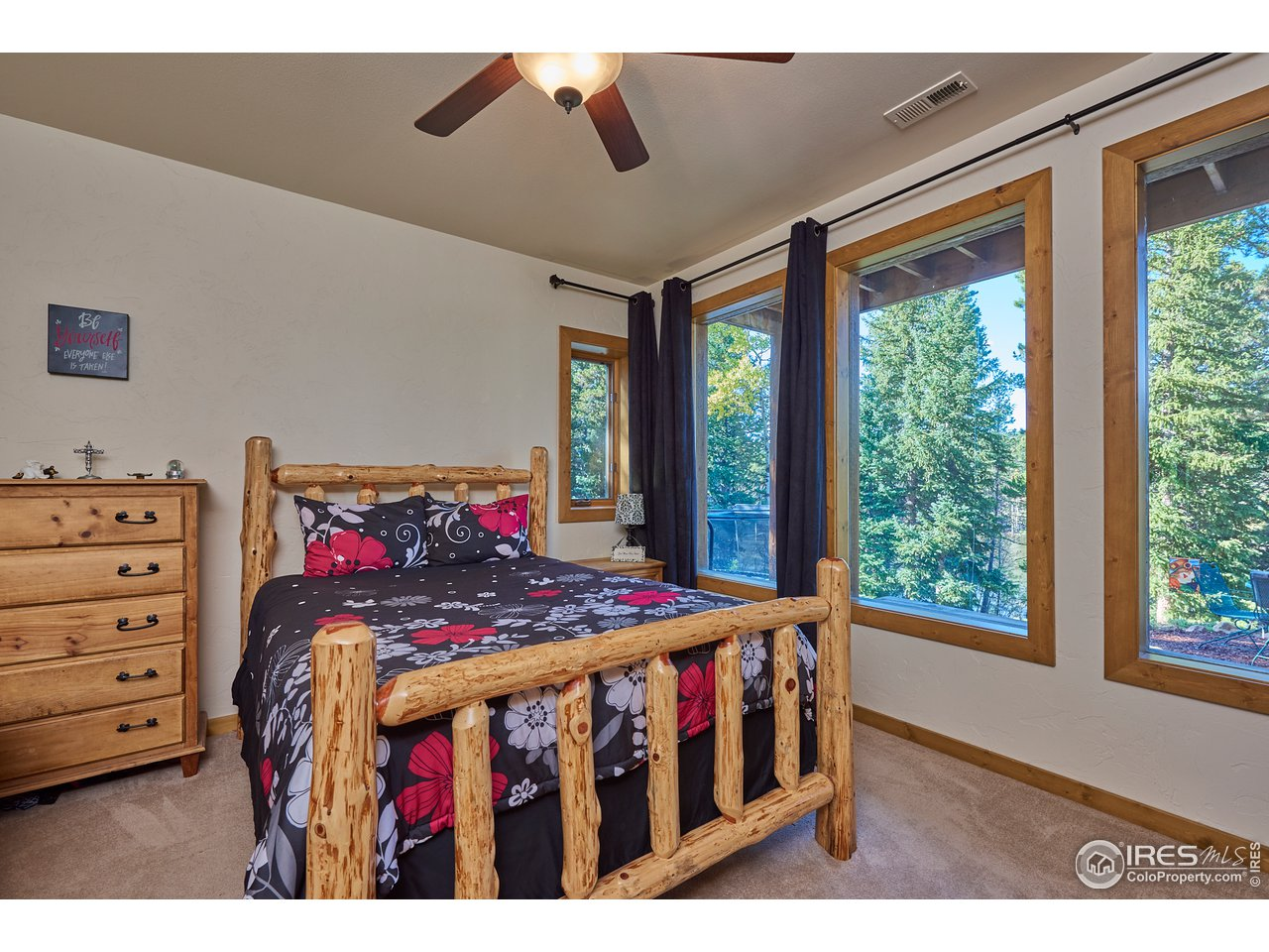 Guest bedroom with lake views-lower level
