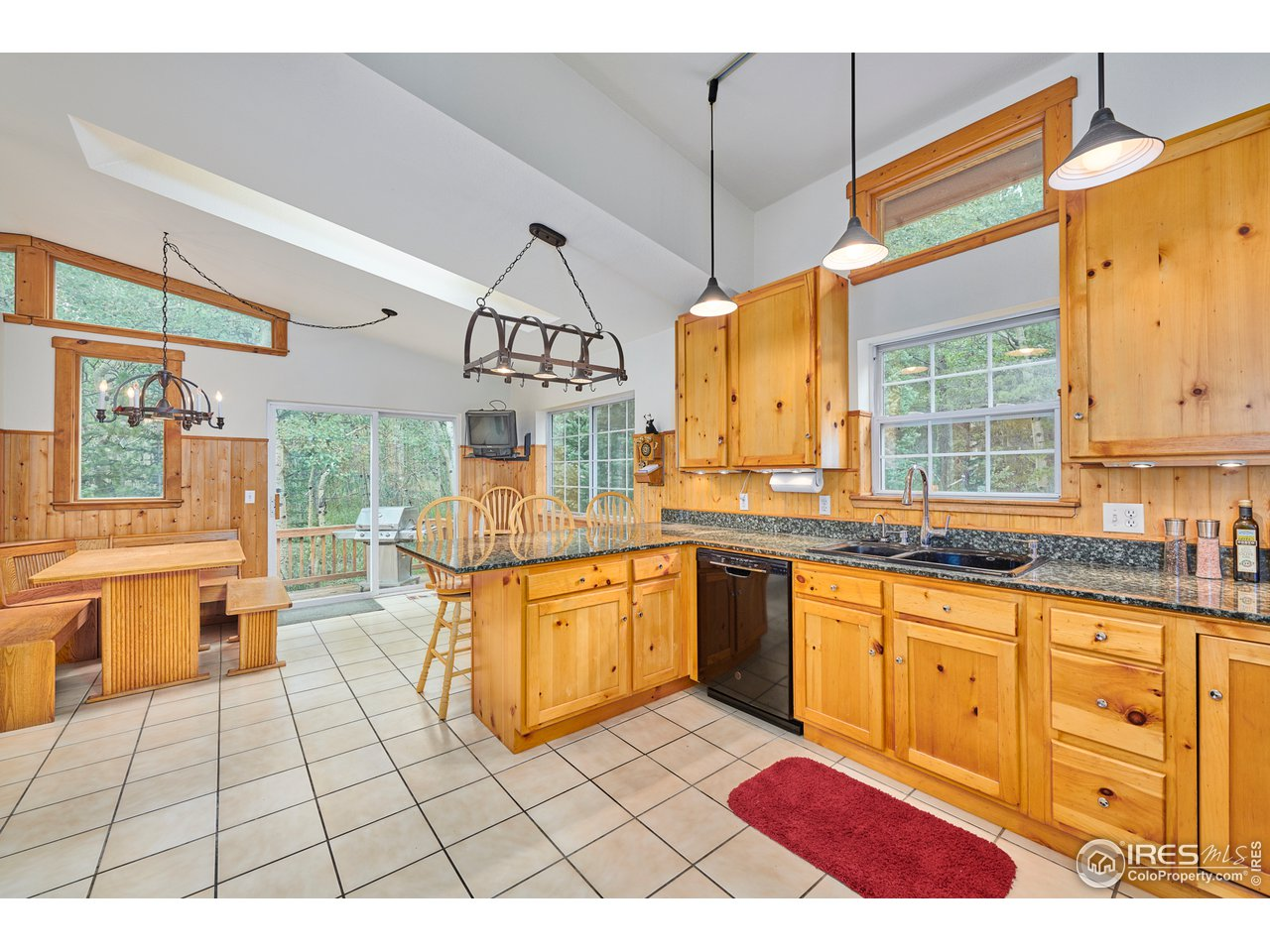 Large kitchen with dining space