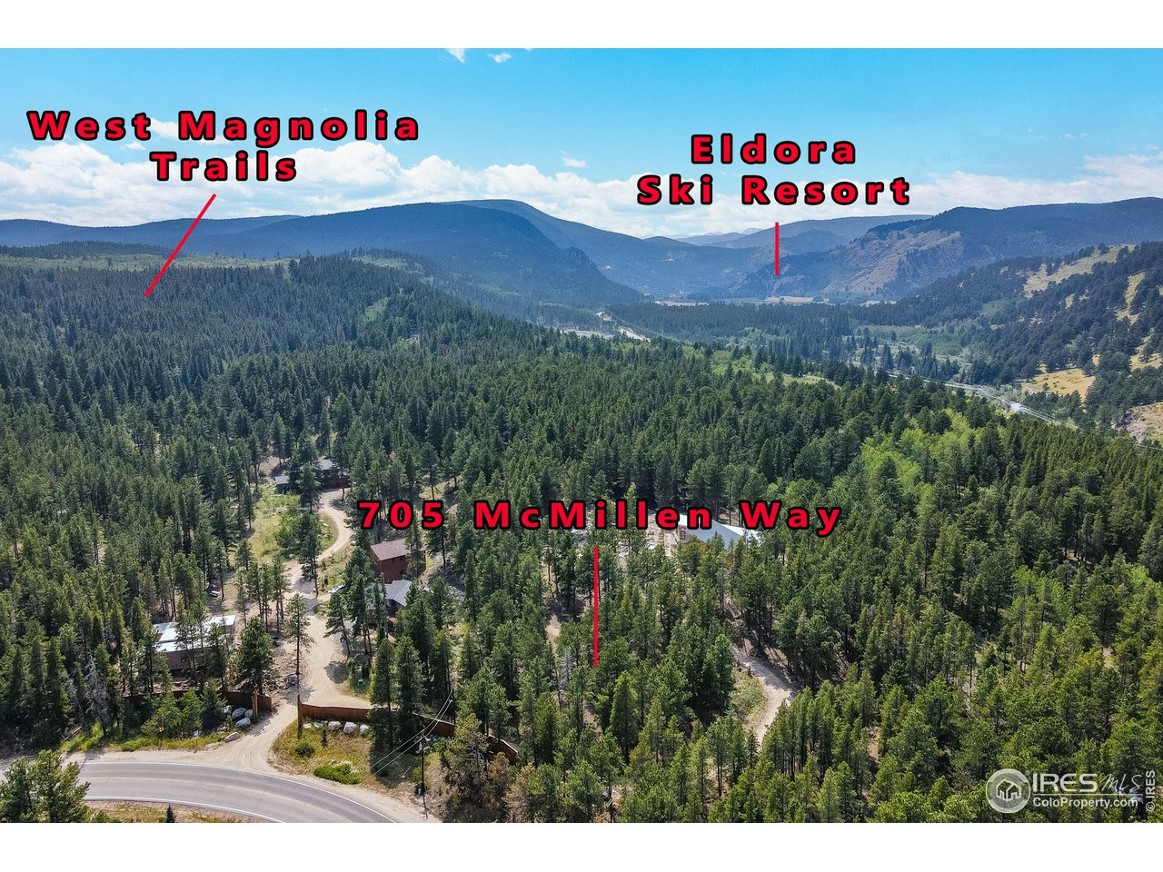 Just 3 miles to ski at Eldora or step out your front door into the West Magnolia trails
