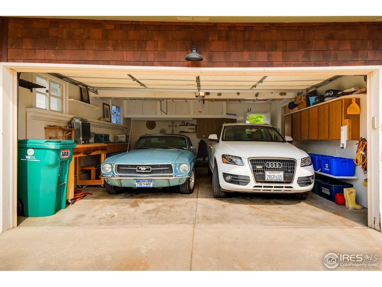 Roomy garage...
