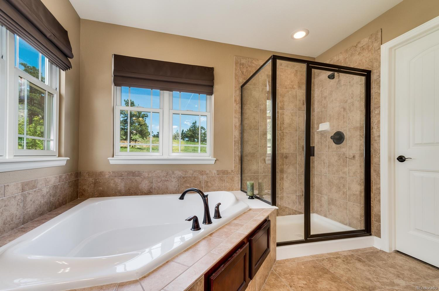 Master Bath with Unobstructed Views