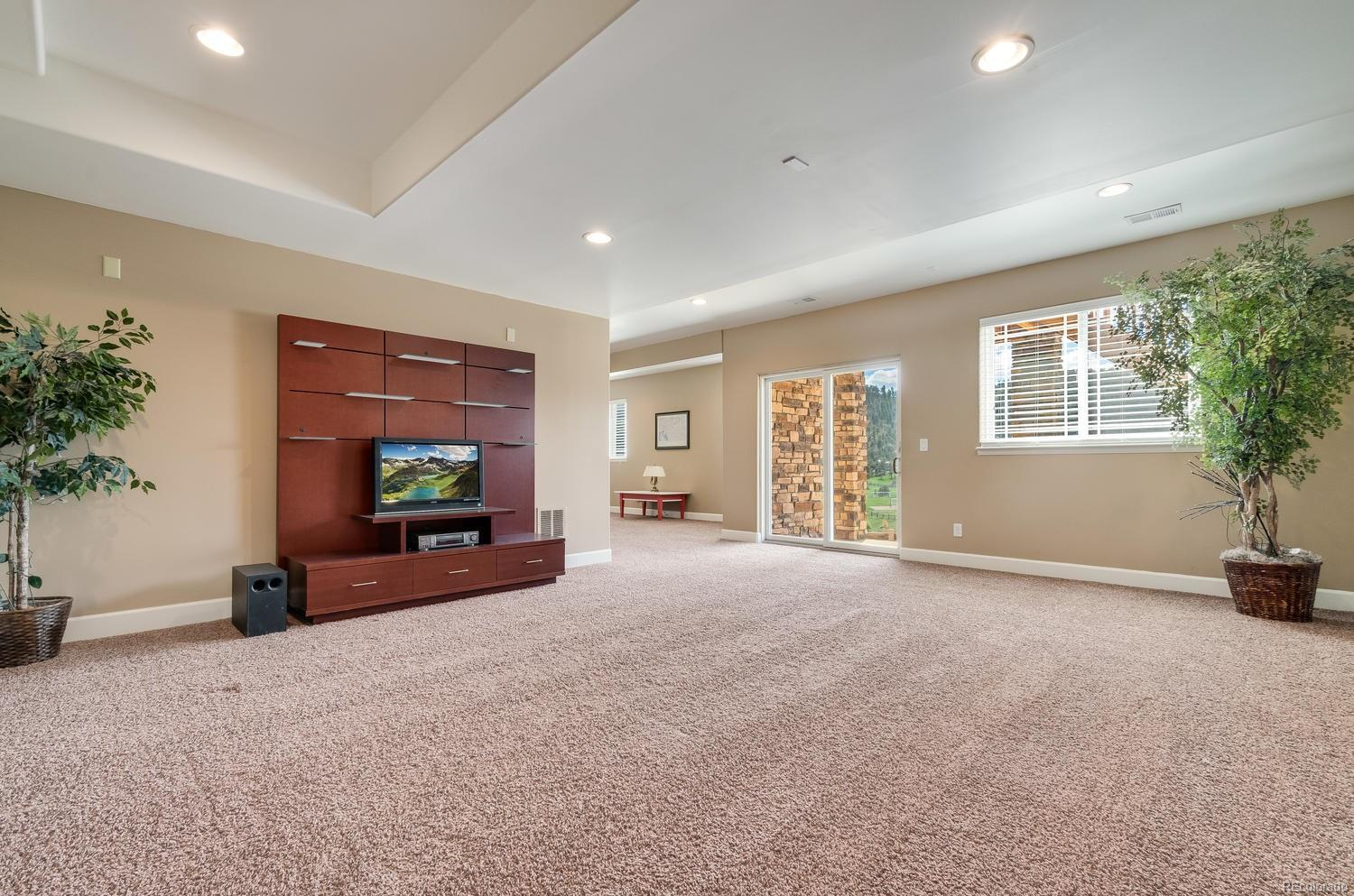 Spacious Media Room For Watching Movies or Sporting Events